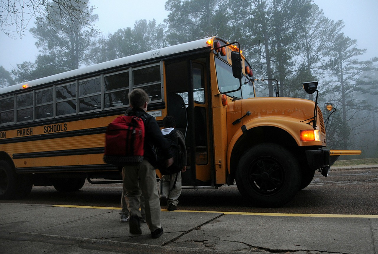 Preparing for starting school - school bus